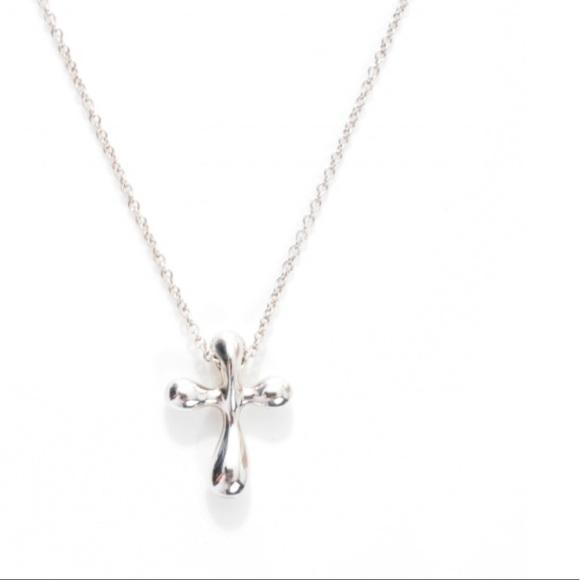 4845f250bfaee Tiffany & Co Elsa Peretti Cross Pendant Necklace