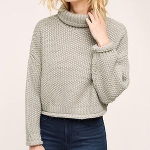 NWT Anthropologie Cropped Turtleneck Sweater