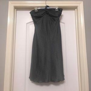 Black with white polka dot halter dress