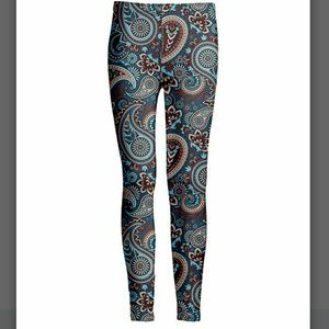 Pants - COMING SOON! Blue & Brown Paisley Leggings