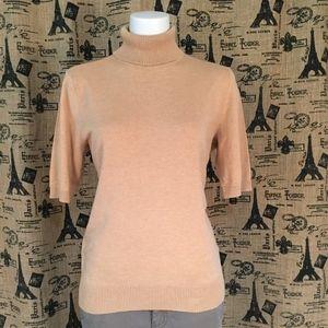 Designers Originals Tan Turtleneck Sweater Sz L