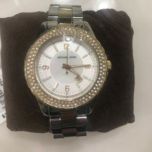 Authentic Michael Kors watch, silver and gold
