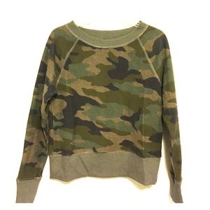 Banana Republic camouflage crop cotton sweatshirt