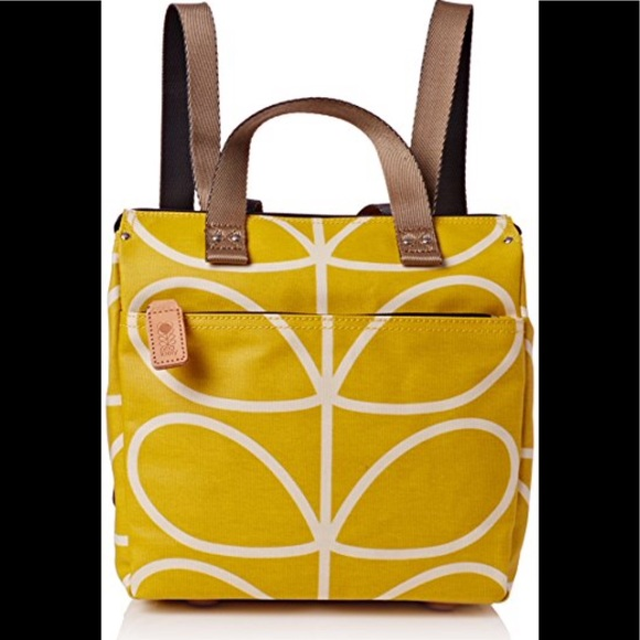 Orla Kiely Dandelion Giant Stem Linear Backpack 76a06fe8384cb
