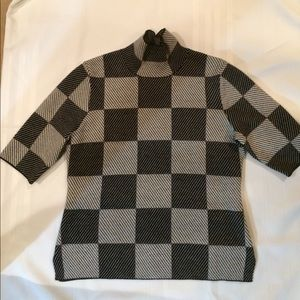 Ann Taylor checkerboard sweater.