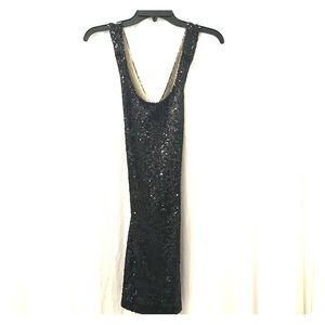Lovers + Friends Black Sequin Bodycon Dress