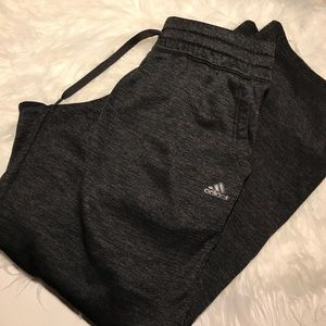 Adidas Climawarm lined joggers gym pants M