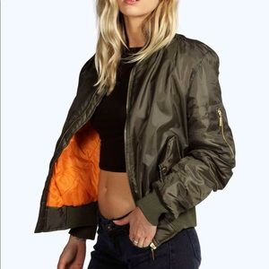 Asos Olive Green Bomber Jacket size small