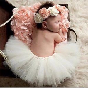 Other - Boutique Newborn Baby Photo Prop Tutu & Headband