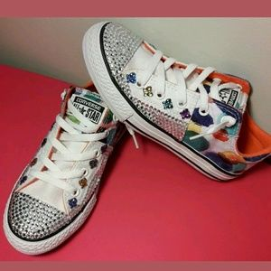 Girls Converse All Star Blinged Out Sneakers Sz 1