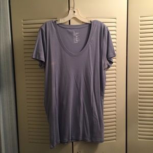 Gap V-Neck Ocean Blue Short Sleeve T