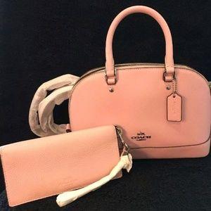 COACH Pink Mini Sierra Dome Satchel/LG Wallet
