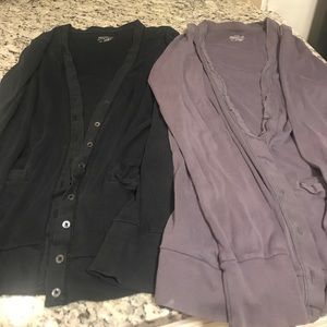 Lot Of 2 J.Crew perfect fit cardigan sweater large