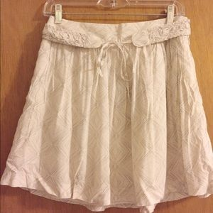 Club Monaco White Mini Skirt