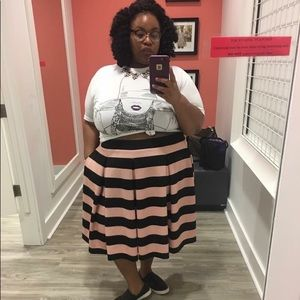 Ashely Nell Tipton boutique + stripped skirt