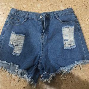 High waisted jean shorts never worn