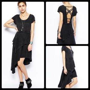 Free People Rocket Cat Hi-low Jersey Dress