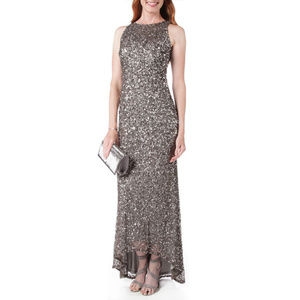 Adrianna Papell Sequined High-Low Dress