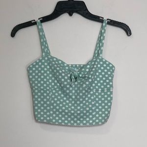 Kimchi blue [UO]: mint green polka dot crop top
