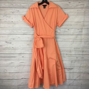 NWT Sandro belt wrap pinup rockabilly dress