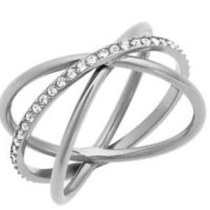 Michael Kors Brilliance Silver Ring- Size 7