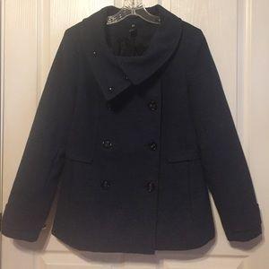 H&M sz 14 dark blue pea coat