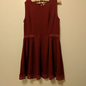 ModCloth Maroon Dress