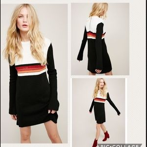NWT Free People ColorBlock Sweater Dress