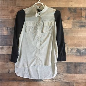 Double Zero Tunic Length Blouse
