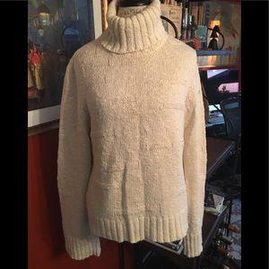 DKNY Nubby Oatmeal Turtleneck Sweater