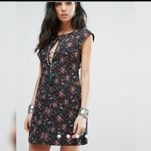 NWOT Free People Say Yes Floral Mini Dress