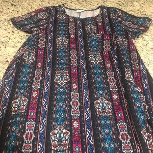 Lularoe stained glass print Carly small dress