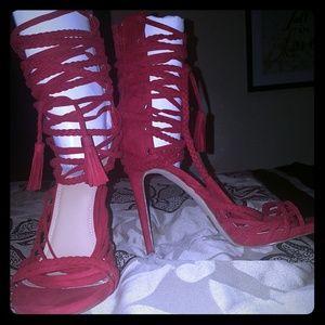 Just Fab Red Nayelina Style Shoe