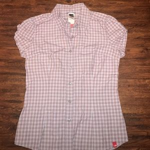 North Face Plaid S/S Cortland Top Sz Small NWT