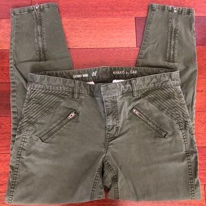 GAP Skinny Mini Green Ankle Khakis Size 8