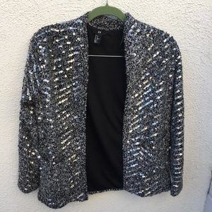 H&M Sequins Sparkly Oversized Jacket