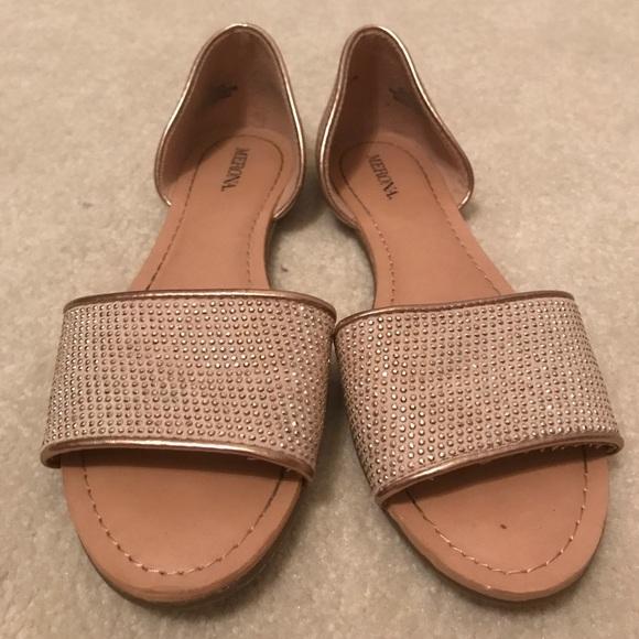 Merona Shoes   Gem Nude Open Toe Flats