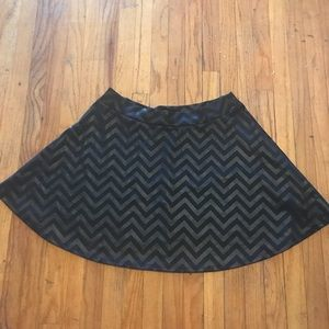 Black chevron pattern skirt