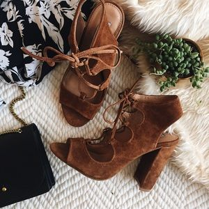 Steve Madden lace up suede sandals