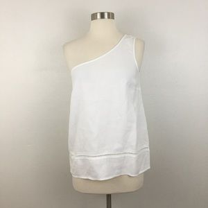 Cloth & Stone One Shoulder White Tank Blouse