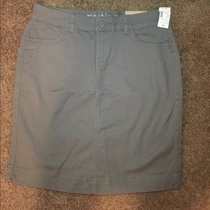Gray Knee Length Maurices Skirt