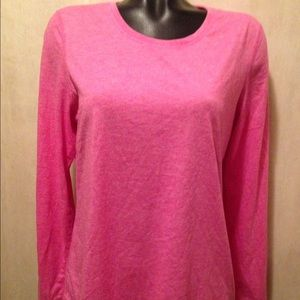 DANSKIN NOW loose fit PINK LONG SLEEVES SIZE LARGE