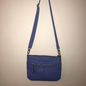 Faux Leather Blue Bag