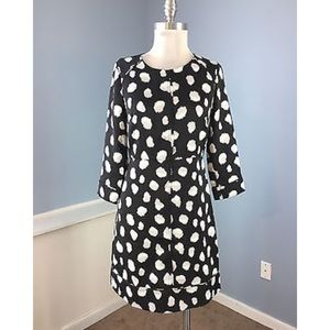 Black and White Polka dot A-line Dress