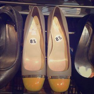 Calvin Klein two tone heels