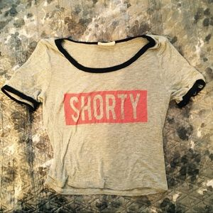 "Poetry ""Shorty"" Ringer Cropped Tee 😜"
