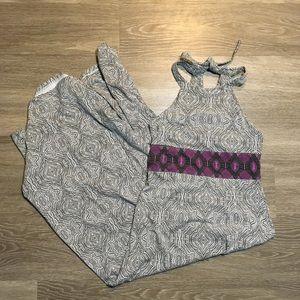Prana // High Neck Halter Empire Waist Maxi Dress