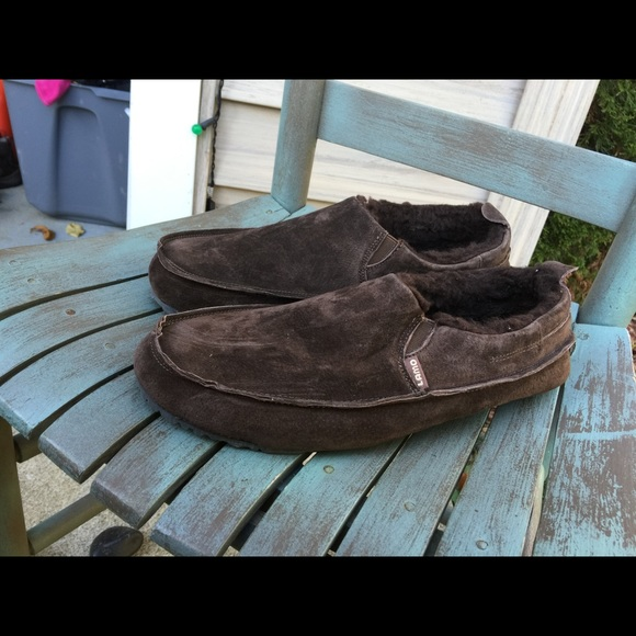 a5a86a45f8256 Lamo Shoes | Mens Brown Leather Fur Lined Slippers 1112 | Poshmark