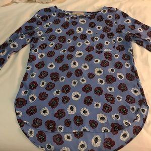 Ann Taylor Loft poppy blouse.
