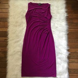 Lauren Ralph Lauren ruched boat neck size 6 dress